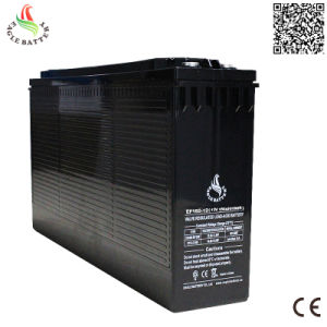 Front Terminal 12V 150ah Rechargeable Lead Acid Battery for Telecommunication