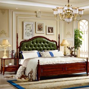 Bedroom Set with Wood Bed and Dresser pictures & photos
