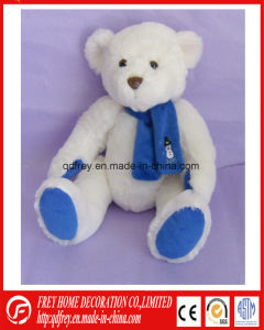Plush White Teddy Bear Toy for Christmas Day pictures & photos