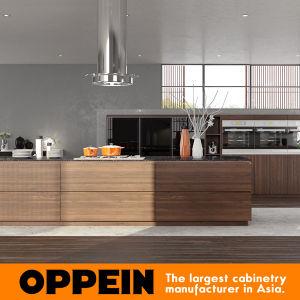 Oppein Modern Natural Elegant Zen-Like Wood Melamine Kitchen Cabinets (OP16-PVC01) pictures & photos
