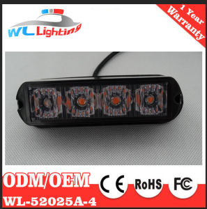 Yellow 24V 4 LED Warning Grille Light for Emergency Vehicle pictures & photos