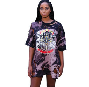 European and American American Music Festival Digital Printing Hole Dress (17006) pictures & photos