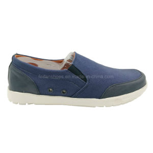 New Style fashion Men′s Slip on Canvas Shoes Skate Shoes (MB17-12) pictures & photos