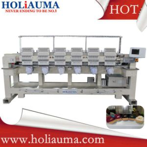 Holiauma 3D Cap T-Shirt Logo Leather Embroidery Machine 6 Head High Speed Dahao System Embroidery Machine pictures & photos