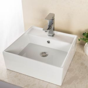 Best Brass Square Single Hole One Handle Tub Lavatory Waterfall Bathroom Vessel Sink Faucet, Chrome Finish Modern Bathroom Sink Faucet pictures & photos