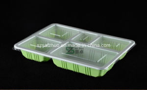 5 Compartment Thicken Upscale Disposable Plastic Food Tray pictures & photos