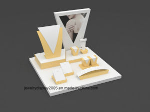 Simple Style Yellow and White PU Leather Jewelry Display Stand pictures & photos