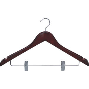 Useful Natural Wood Female Skirt Sock Hanger with Clips pictures & photos