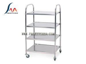 Stainless Steel 4-Layers Dining Cart (Round tube or Square tube) , Many Sizes pictures & photos
