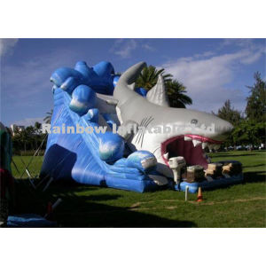 Hippo Inflatable Shark Water Slides with Pool for Party and Events pictures & photos