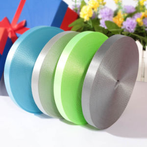 Customized Satin Striped Grosgrain Ribbon with Logo Design pictures & photos