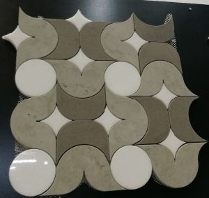 Wooden Waterjet Mosaic Tile, High Quality Marble Mosaic Tile pictures & photos