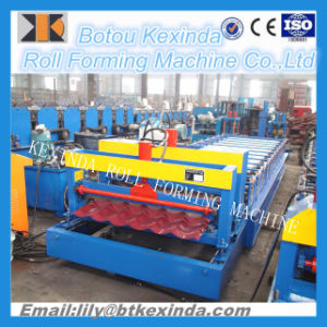 1100 Glazed Tile Roof Making Machine pictures & photos