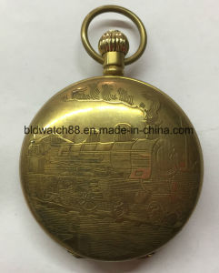 Big Size Cheap Quartz Alloy Pocket Watch for Men Womens pictures & photos