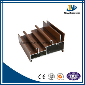 Wooden Grain Finished Aluminum Profile Extrusion pictures & photos