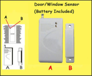 Elegant Wireless Electronic Opening Door Sensor for GSM Alarm System pictures & photos