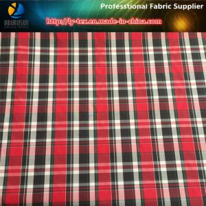 Fashionable Red Yarn Dyed Fabric for Garment, Polyester Dress Woven Fabric pictures & photos