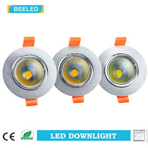 Dimmable LED COB Downlight 5W Warm White Aluminum Sand Silver pictures & photos