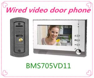 7 Inch Hand Free 4 Wire Video Doorbell Home Security System pictures & photos