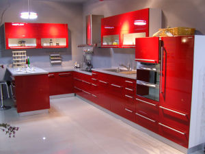 Home Furniture Classic High Gloss Kitchen Cabinets pictures & photos