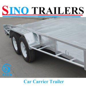 Flattop Car Box Trailer with Ramp by Sino OEM pictures & photos