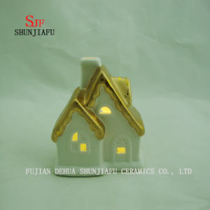 Small House Candlesticks Light House - Ceramic Candle Holder - E pictures & photos
