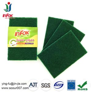Nylon Abrasive Pan Cleaning Green Scouring Pad pictures & photos
