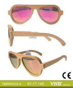 New Style Fashion Sunglasses Wooden and Bamboo Sunglasses with Ce and FDA (332-A) pictures & photos