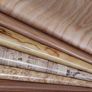 New Style Wood Grain PU Artificial Leather for Upholstery, Bags, Notebook Cover, Shoes (HS-Y144) pictures & photos