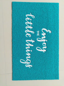 Letter Printed PVC Coil Floor Mat Foot Clean Door Mat pictures & photos