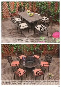 Garden Cast Aluminum Chair and Table with Ceramic Top pictures & photos