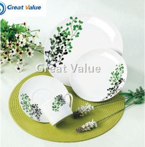 18PCS Elegant Ceramic Plates Round pictures & photos