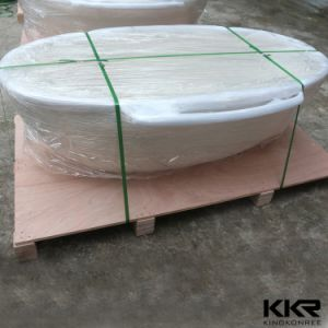 Corian Solid Surface Bathroom Freestanding Bathtub for Hotel Projects pictures & photos