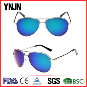 Ynjn High Quality Colorful Mirror Lenses Polarized Sunglasses Pilot (YJ-F8625) pictures & photos
