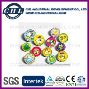 Non Toxic Transparent Rubber Bouncy Ball with Printed Paper Card pictures & photos