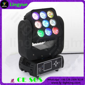 3X3 9PCS 12W RGBW Matrix Moving Head LED Blinder Light pictures & photos