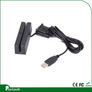 Hot Sale Card Reader Magstripe Card Swipe 3 Track Magnetic Swipe Card Reader with Serial Port pictures & photos