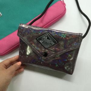 Flash Pattern Brown PU Hasp Women Bag (M009-20) pictures & photos