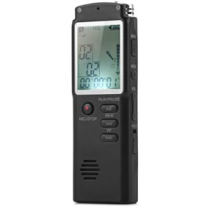 8GB Professional Digital Audio Voice Recorder with Real Time Display a Key Lock Screen Telephone Recording MP3 Player pictures & photos
