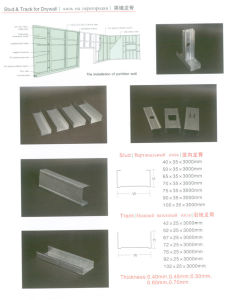 Galvanized Steel Profile/ Galvanized Metal Stud and Tracks/Galvanized Metal Track pictures & photos