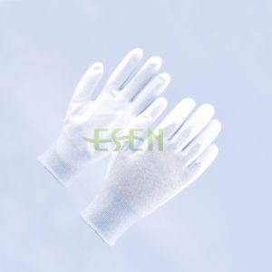 Carbon Fiber Nylon PU Coated ESD Antistatic Gloves pictures & photos