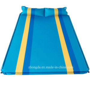 Double 75D Polyester Pongee Camping Mat with Air Pillows for Two or Three People pictures & photos