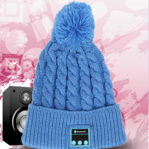 2016 New Design Fashion Winter Women Men Knitted Wireless Phone Bluetooth Beanie Hat with Stereo Headphone