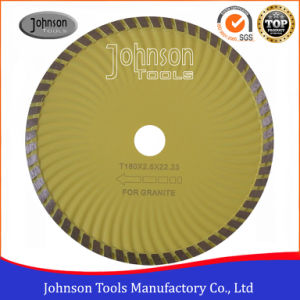 Granite Cutting Blade 180mm Diamond Turbo Wave Saw Blade for Granite pictures & photos