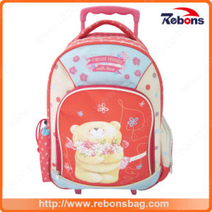 Super Cute Bear Allover Printing Trolley School Bags for Student pictures & photos