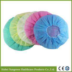 Disposable Surgical Non-Woven Bouffant Cap with Various Colors pictures & photos