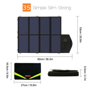 Portable Foldable Solar Panel Charger 40W18V 5V Dual Ports pictures & photos