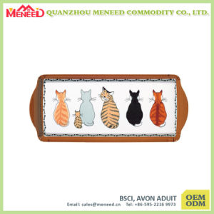 Customized Design High Quality Melamine Serving Tray Handles pictures & photos