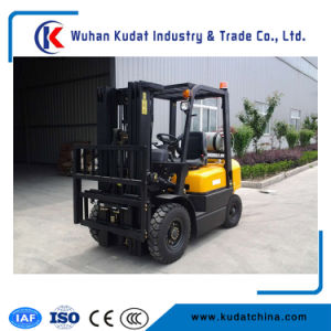 Ce Approved Cargo Loading Gasoline Operated Engine LPG Forklift 3.5ton pictures & photos