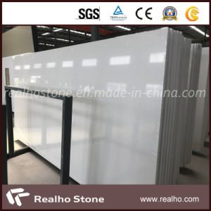 Big Slab Snow White Pure White Artificial Quartz Stone for Countertops pictures & photos